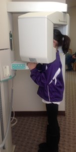 child getting an xray
